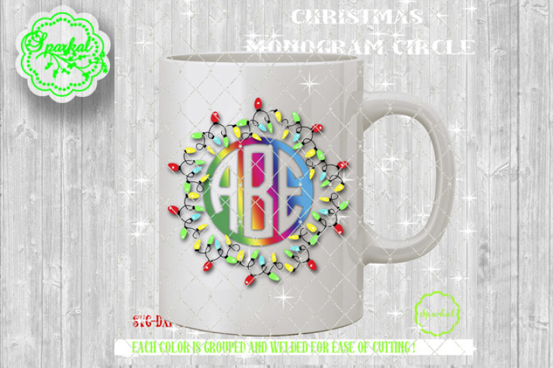 Free Christmas Lights Monogram Frame Svg Eps Dxf Png Crafter File Cut Vectors Photos And Psd Files Free Download