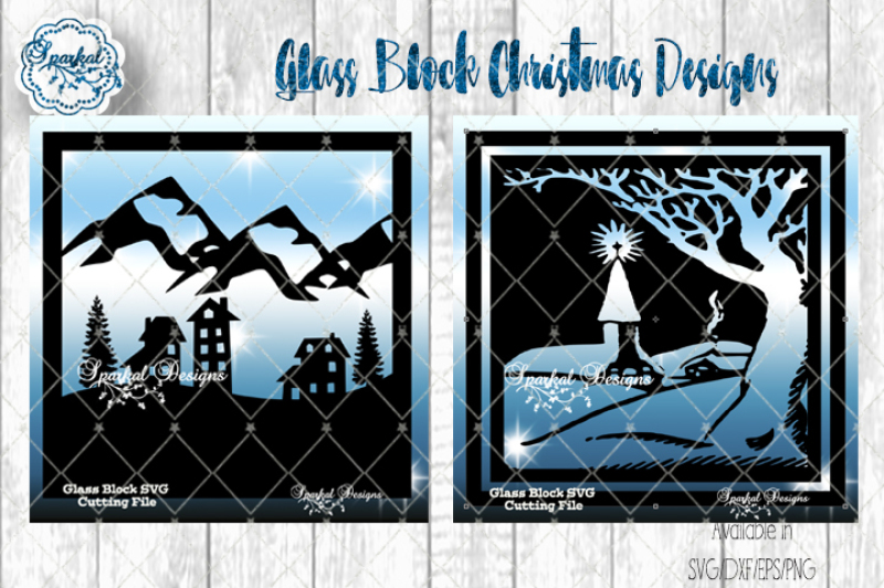 Free Glass Block Christmas Designs Svg Dxf Eps Png Crafter File Free Svg Cut Quotes Files