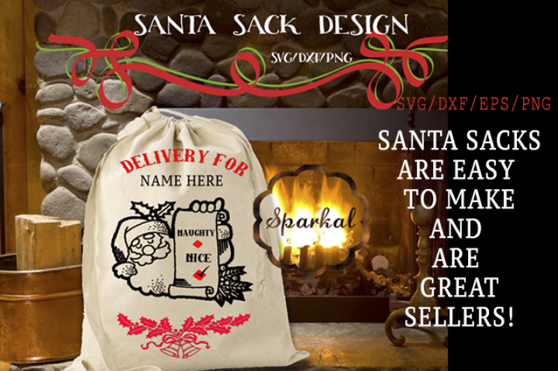 Download Free Santa Sack Design Cutting File Crafter File