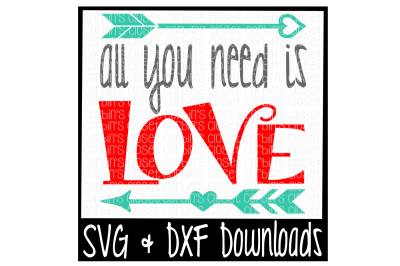 All You Need Is Love Cutting File Design Free Goat Svg File