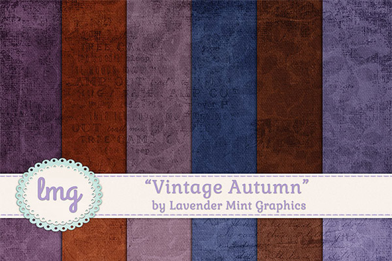 Download Free Vintage Autumn Digital Papers Crafter File
