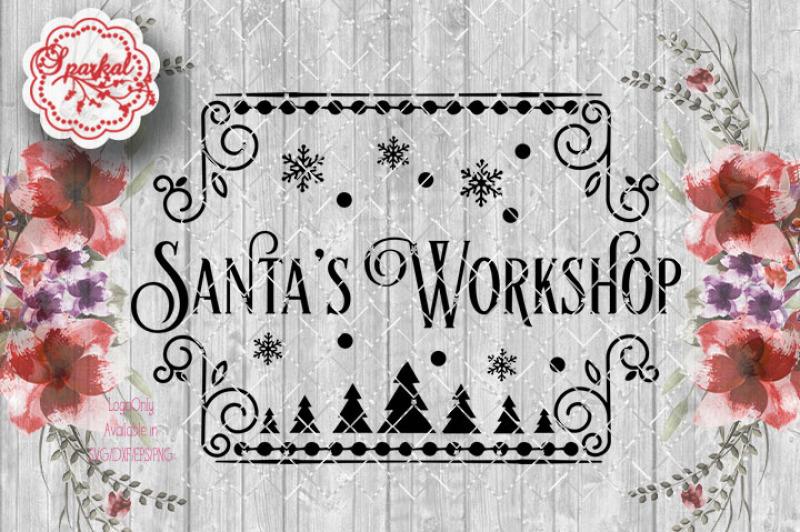 Download Free Santa'S Workshop Cut File ~ Svg Dxf Eps Png Crafter File