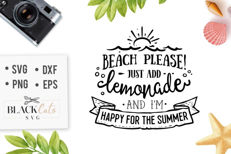 Free Beach, please add lemonade - SVG file Crafter File