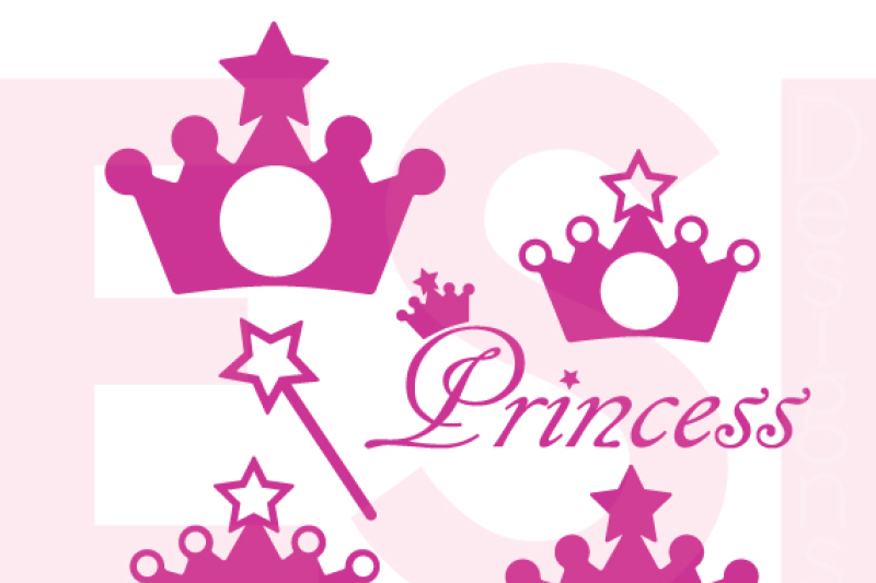 Free Princess Crown And Wand Monogram Design Set Svg Dxf Eps Cutting Files Crafter File Download Best Free 16240 Svg Cut Files For Cricut Silhouette And More