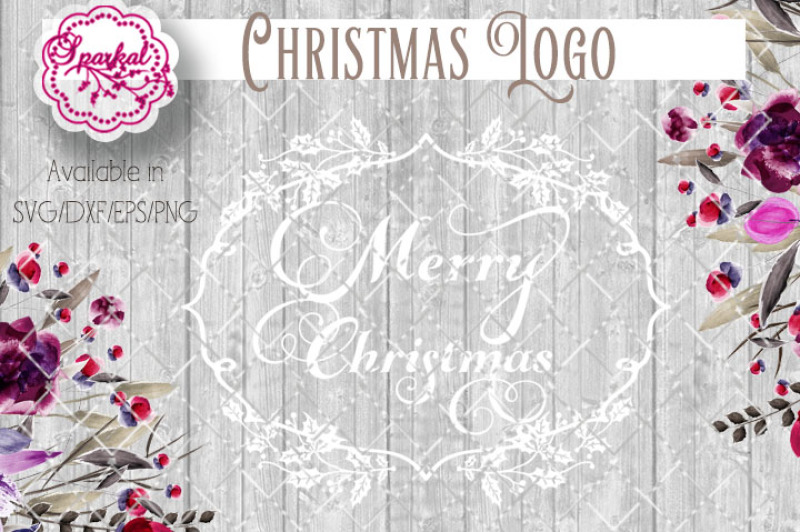 Free Merry Christmas Logo Cut File Svg Eps Dxf Png Crafter File Free Svg Cut Images