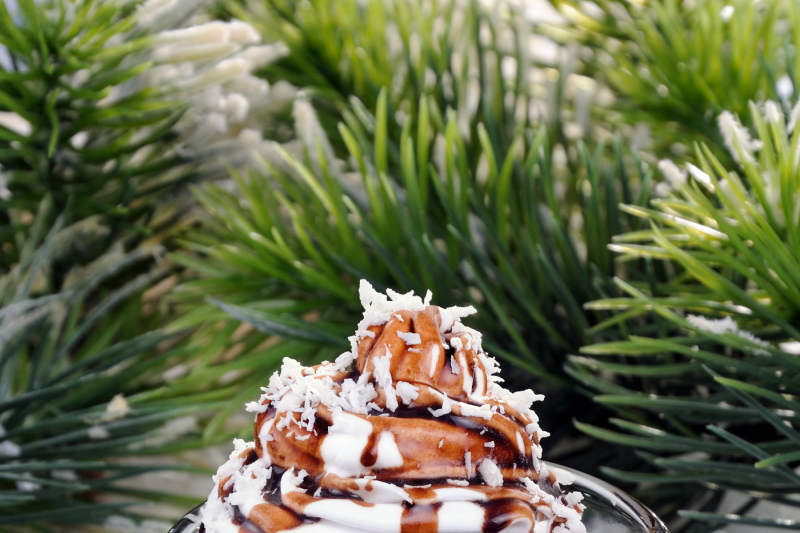Coffee In Whipped Cream With Chocolate Topping Irish Cream By Food