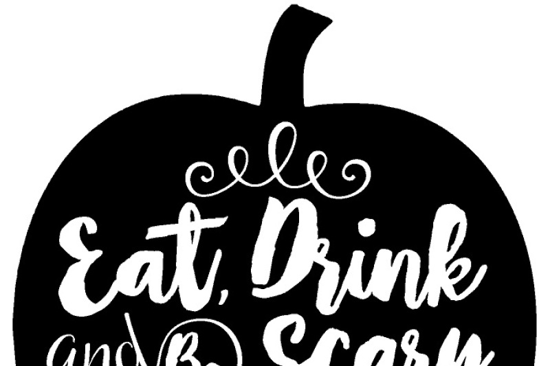 Eat Drink And Be Scary Halloween Pumpkin Svg File By Southern