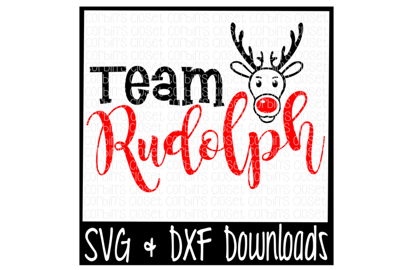Team Rudolph Christmas Santa Rudolph Cutting File Design Free Jewelry Svg