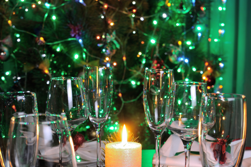 Candle And Cones As An Element Of Decor Christmas Table By Food Of