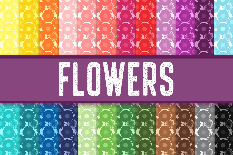 Download Free Flowers Digital Paper Crafter File