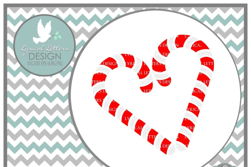 Candy Cane Heart Christmas Svg Dxf Eps Ai Jpg Png Scalable Vector Graphics Design Free Svg File Stock