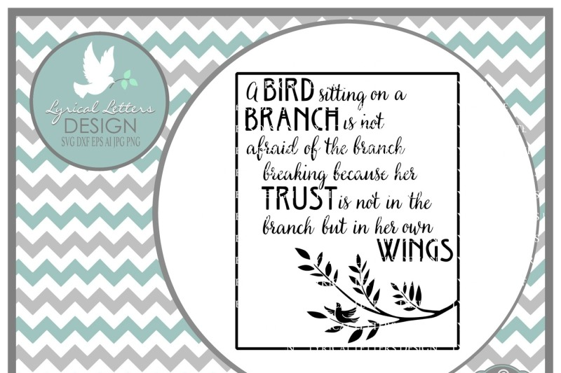 A Bird Sitting On A Branch Svg Dxf Eps Ai Jpg Png Design Free Lace Svg Images