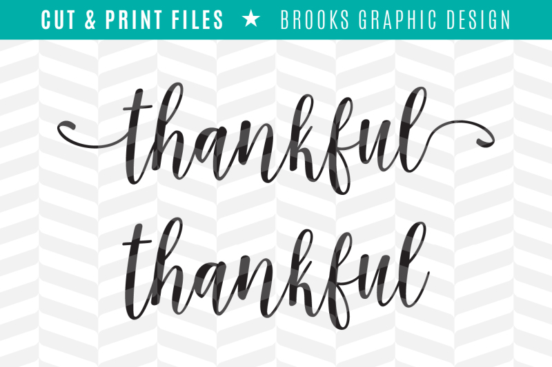 Thankful Dxf Svg Png Pdf Cut Print Files Scalable Vector Graphics Design Download Svg Files Coffee