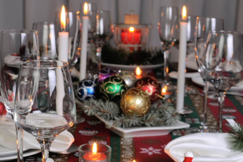 Decorative Folded Napkin On The Christmas Table By Food Of Maryna