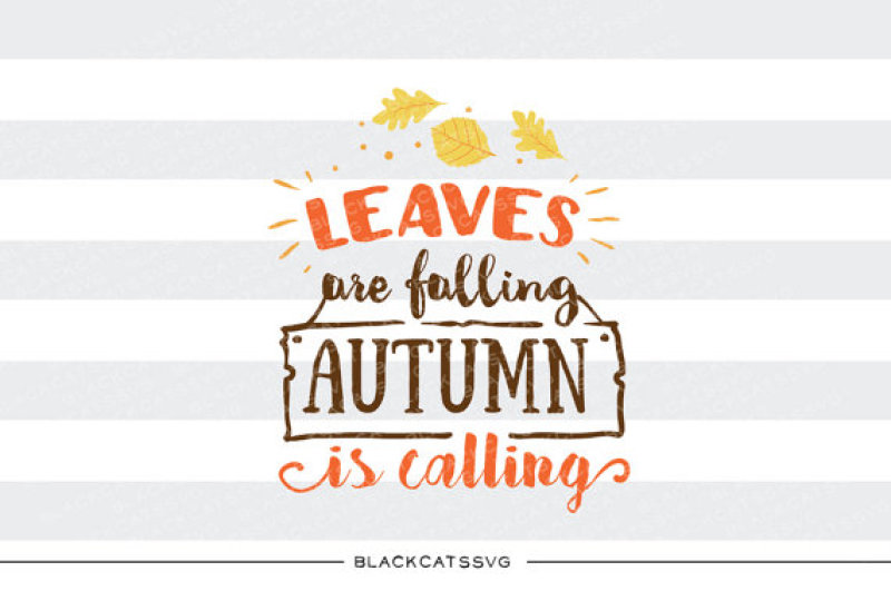 Leaves Are Falling Autumn Is Calling Svg File Design Free Svg Files New Update