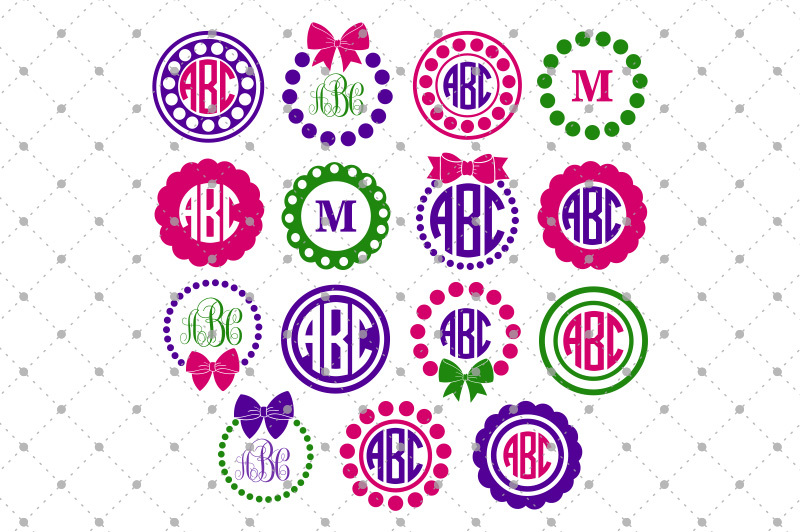Free Circle Monogram Frames Files Crafter File Download Free Svg Files Creative Fabrica