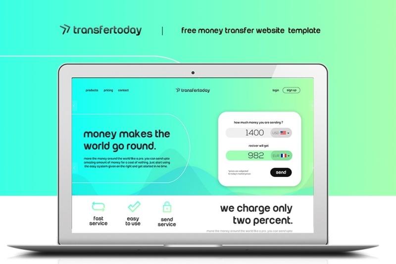 Money Transfer Website Psd