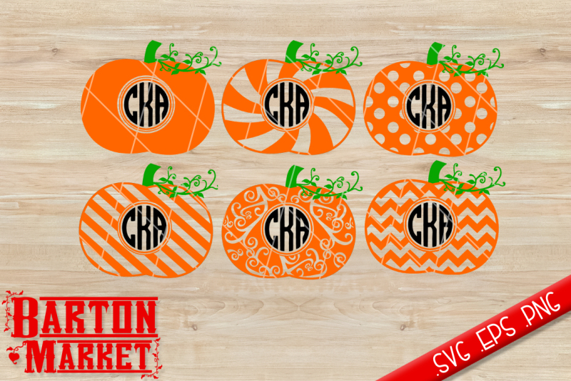 Pumpkin Monogram Svg Dxf Eps Png By Bartonmarket Thehungryjpeg Com