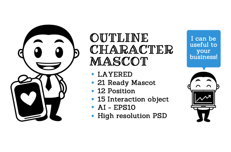 Free Outline Character Mascot Crafter File Free Svg Files Free Svg Bundle Downloads