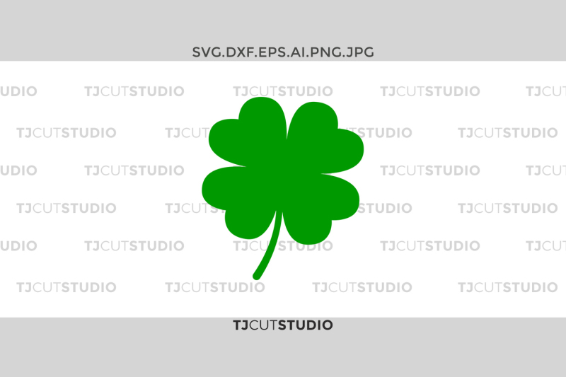Shamrock Monogram Svg Four Leaf Clover Svg Clover Svg Design Free Cheer Svg Cut Files