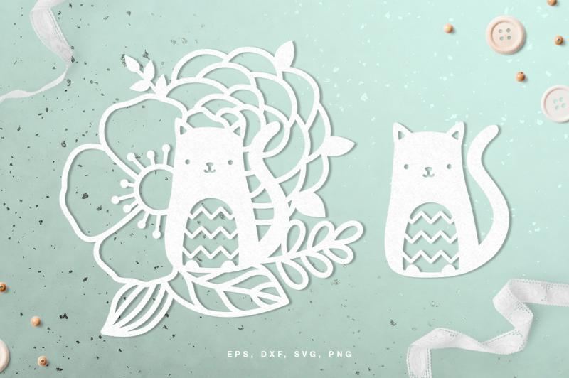 Free Floral Cat Digital Cut File Svg Dxf Png Eps Crafter File Best Free Svg Files Download