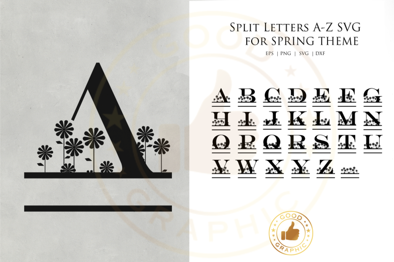 Free Split Letters A Z Svg For Spring Theme Crafter File Free Logo Png Images With Transparent Backgrounds