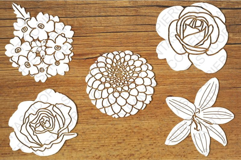 Free Flowers SVG files for Silhouette Cameo and Cricut