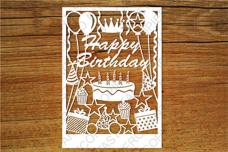 Download Free Happy Birthday Card Svg Files For Silhouette Cameo And Cricut SVG Cut Files