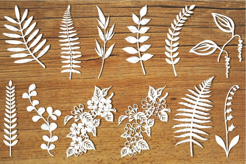 Free Leaves and flowers SVG files for Silhouette Cameo and