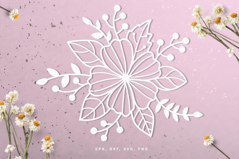 Floral Digital Cut File Svg Dxf Png Eps Design Free Download Svg Files Tea