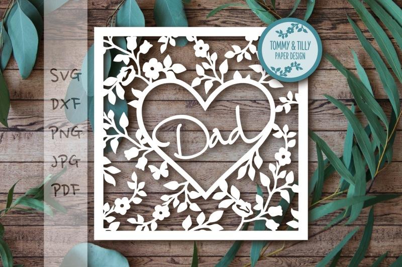 Download Free Dad Heart Frame Svg Dxf Png Pdf Jpg Crafter File