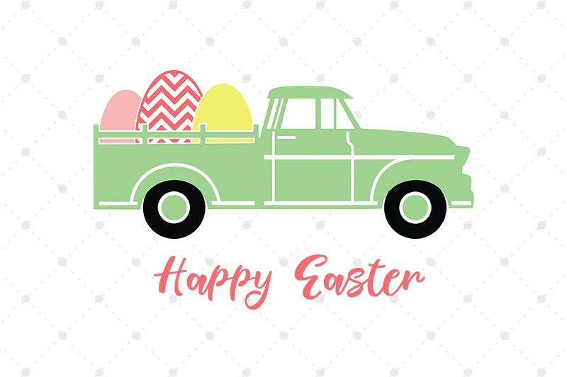 Easter Truck Svg Files By Svg Cut Studio Thehungryjpeg Com