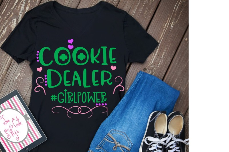 Girl Scouts Svg Cookie Dealer Svg Girl Power Svg Girl Scout Cookies Scalable Vector Graphics Design Svg Cut Files Free Vector