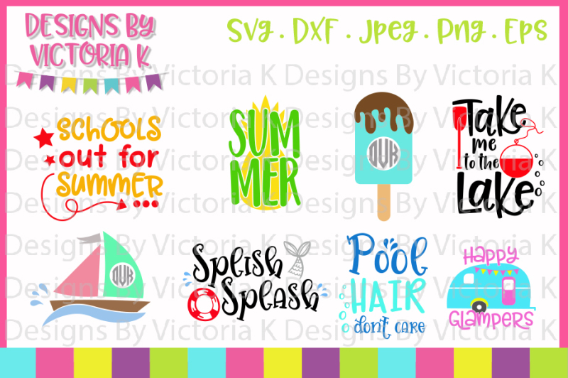 Free Summer svg bundle, Cricut, Silhouette, SVG, DXF, Cut