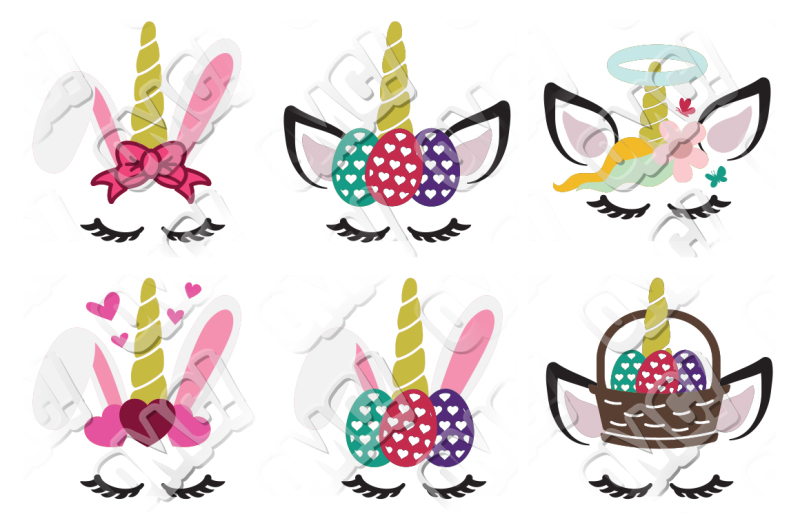 Free Unicorn Easter Bunny SVG Crafter File - Free SVG