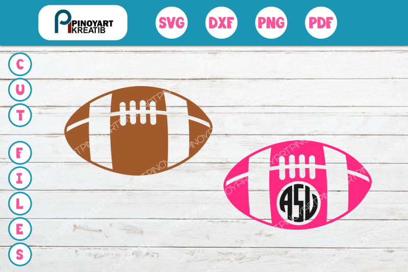 Free Football Svg File Football Monogram Svg Football Dxf File Football Png Crafter File Free Svg Designs Svg Files Template