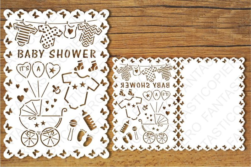 Free Baby Shower Card Svg Files For Silhouette Cameo And Cricut Crafter File