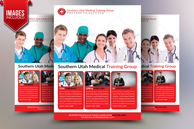 Medical Training Flyer Template By Ayme Designs Thehungryjpeg