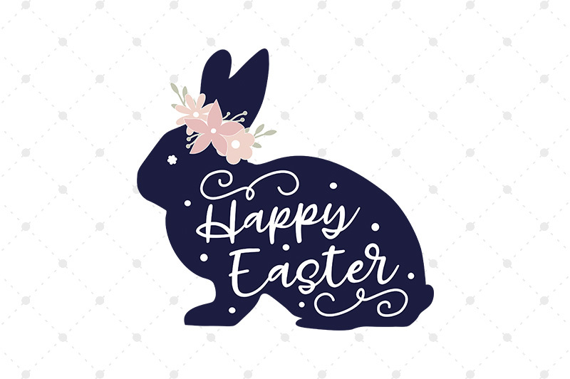 Happy Easter Bunny Svg Files By Svg Cut Studio
