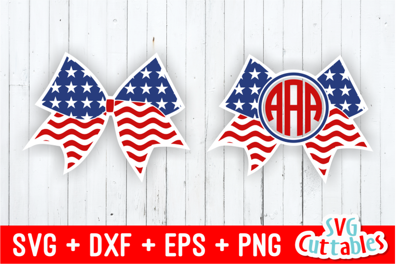 Flag Cheer Bow And Monogram Frame By Svg Cuttables Thehungryjpeg Com