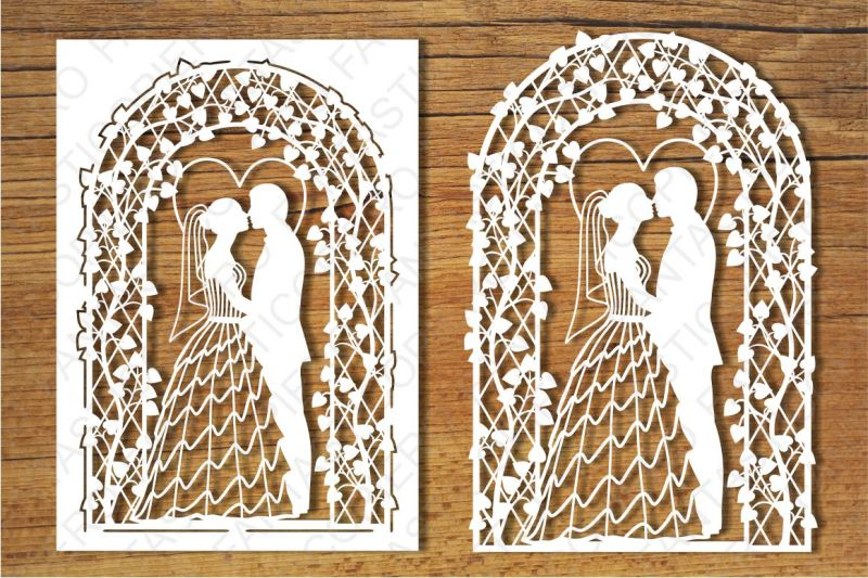 Wedding Card Svg Files For Silhouette Cameo And Cricut By