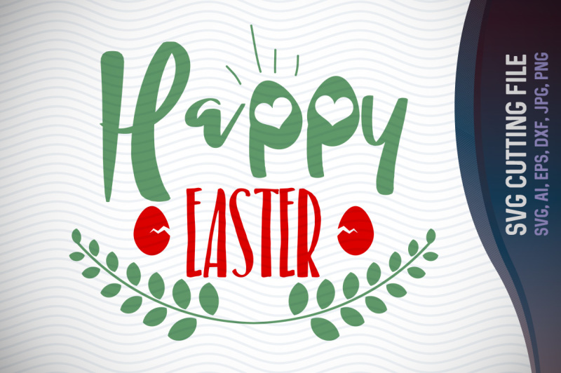 Free Happy Easter Svg Vector File Easter Greetings Trendy Svg File Ai E Crafter File Free Svg Cut Files Grinch