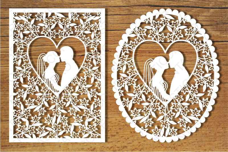 Wedding Cards Svg Files For Silhouette Cameo And Cricut