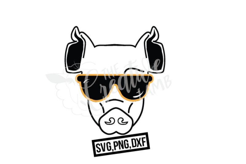 The Pig With The Look Svg Farm Animal By The Creative Lamb