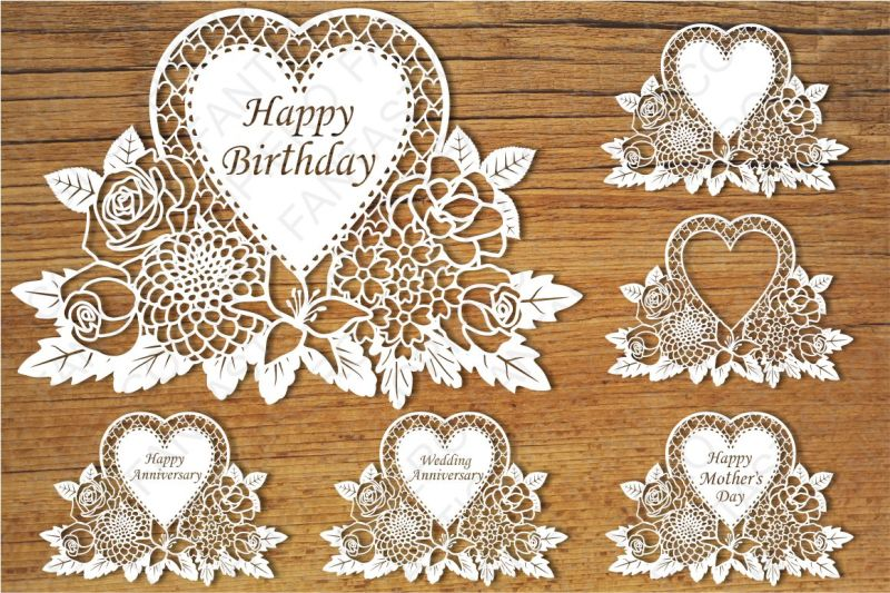 Floral Happy Birthday Wedding Anniversary Happy Mother Day Svg By