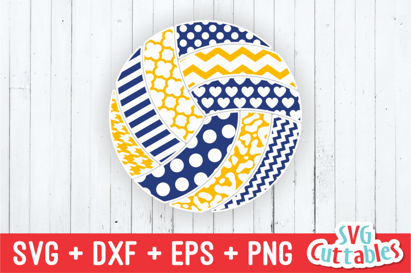 Patterned Volleyball By Svg Cuttables Thehungryjpeg Com