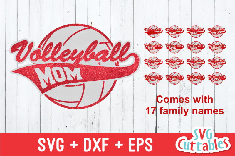 Volleyball Family By Svg Cuttables Thehungryjpeg Com