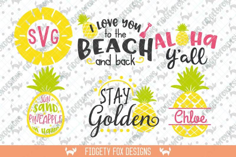 Free Pineapple SVG Monogram Bundle,Summer Svg Bundle, Aloha