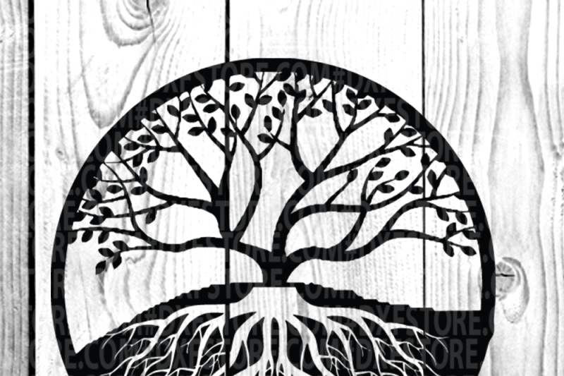 Life Of Tree Family Tree Svg Dxf Eps Png For Cricut And Sihlouett