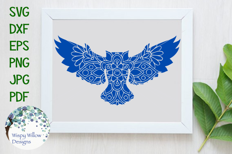 Owl Floral Mandala Svg Dxf Eps Png Jpg Pdf Scalable Vector Graphics Design Free Download Svg Files Laundry Room